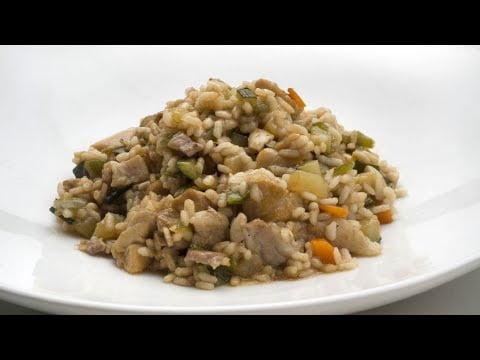 Arroz con pollo y panceta - Karlos Arguiñano