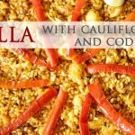 Auténtica receta de paella con coliflor y bacalao
