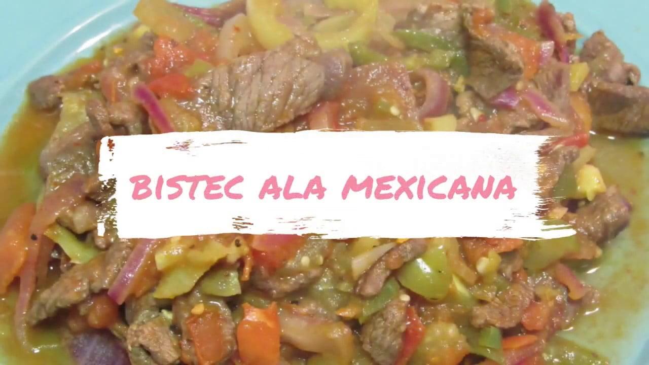 BISTEC A LA MEXICANA || Comida por menos de $100 pesos || Las Recetas de Mama