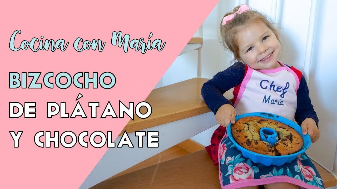 BIZCOCHO DE PLÁTANO CON CHOCOLATE | RECETA
