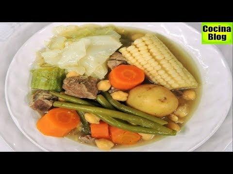 CAZUELA  O COCIDO DE RES - DELICIOSO CALDO - facil receta |  IRIS ANGELIC