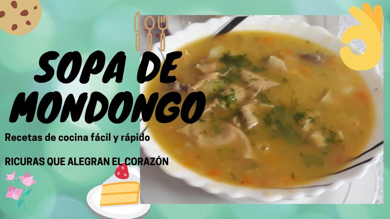 COMO HACER SOPA DE MONDONGO. Recetas de cocina fácil y rápido.