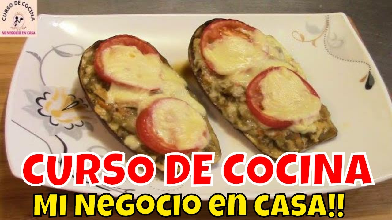 Canoas de berenjena con pollo y queso | recetas de cocina
