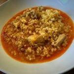 Cazuela de arroz integral con pollo