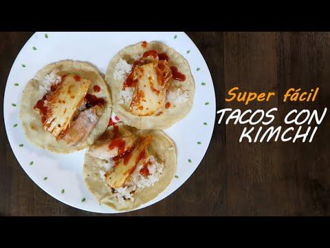 [Comida fácil] Tacos con Kimchi   Receta Mexicoreana #1