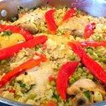 Como Hacer Receta Cubana Arroz con Pollo a la Chorrera Delicioso y Espectacular. #ComidaCubana