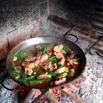 Como hacer paella valenciana a leña