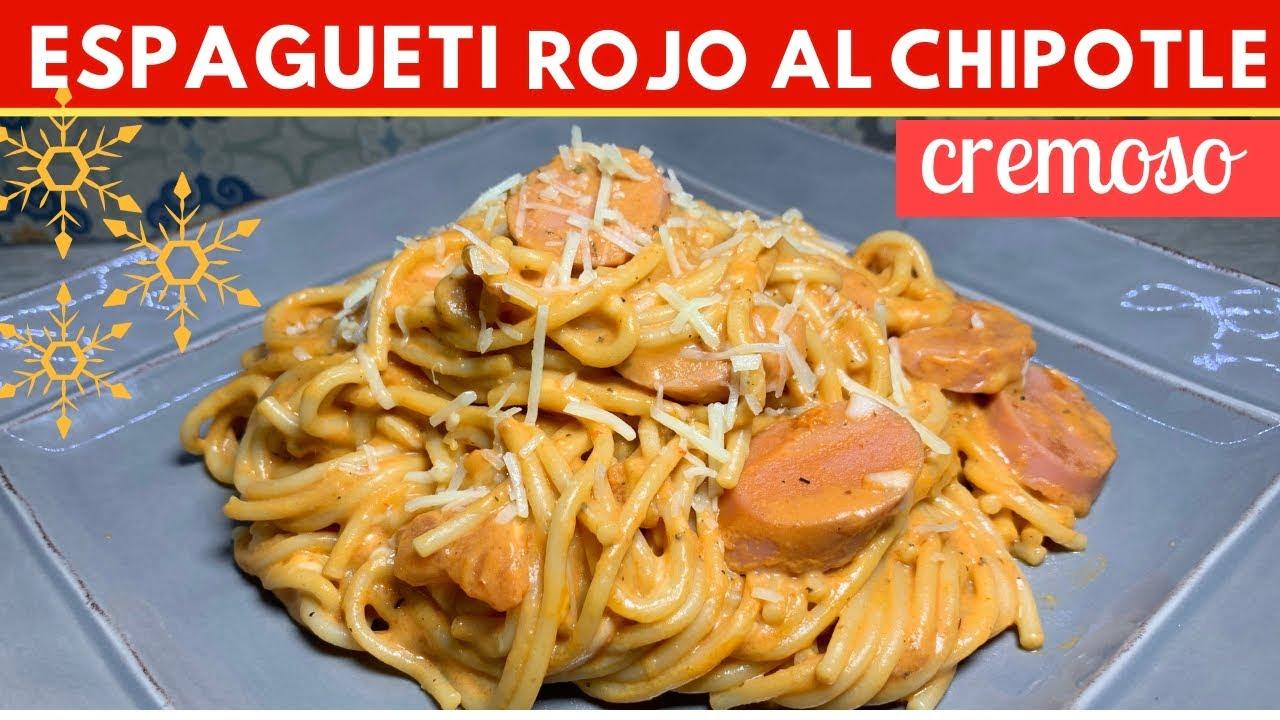 Espagueti rojo al Chipotle muy cremoso Receta FÁCIL |Cocina de Addy