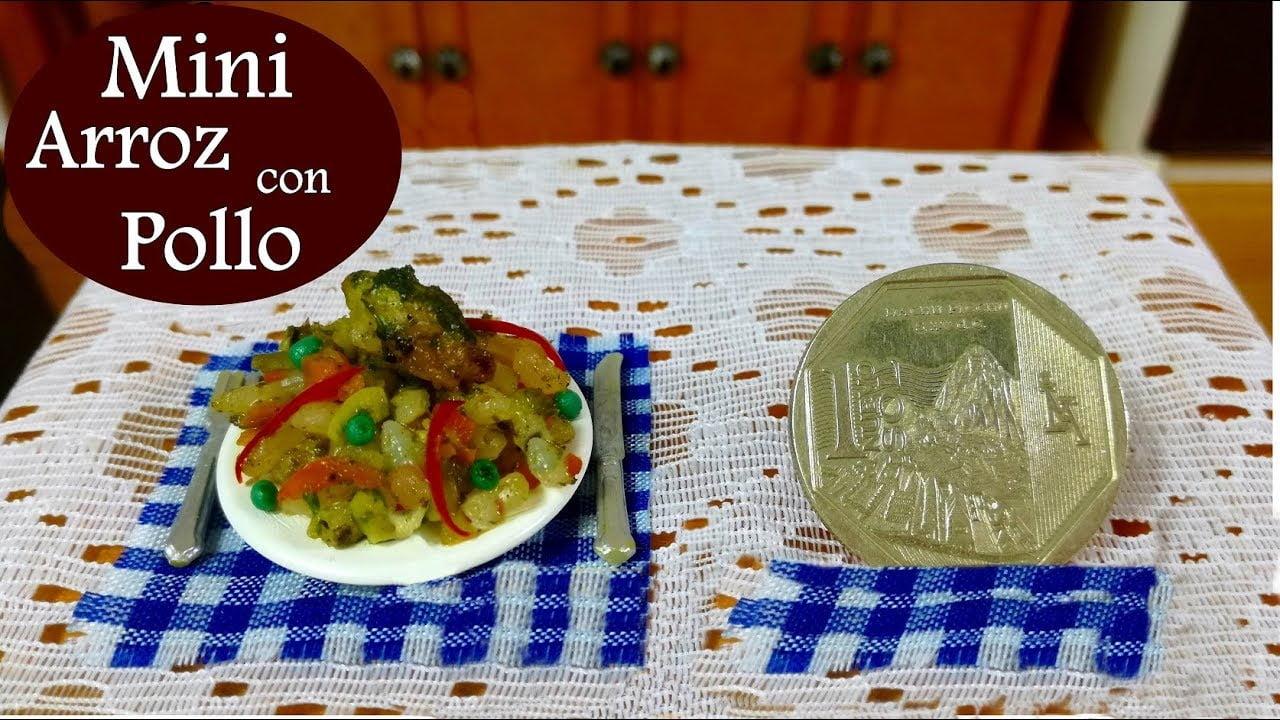 Mini comida peruana - (Arroz con pollo) Receta peruana - mini food - miniature cuisine