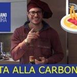 PASTA ALLA CARBONARA - Aprende italiano con recetas de cocina tradicionales italianas.