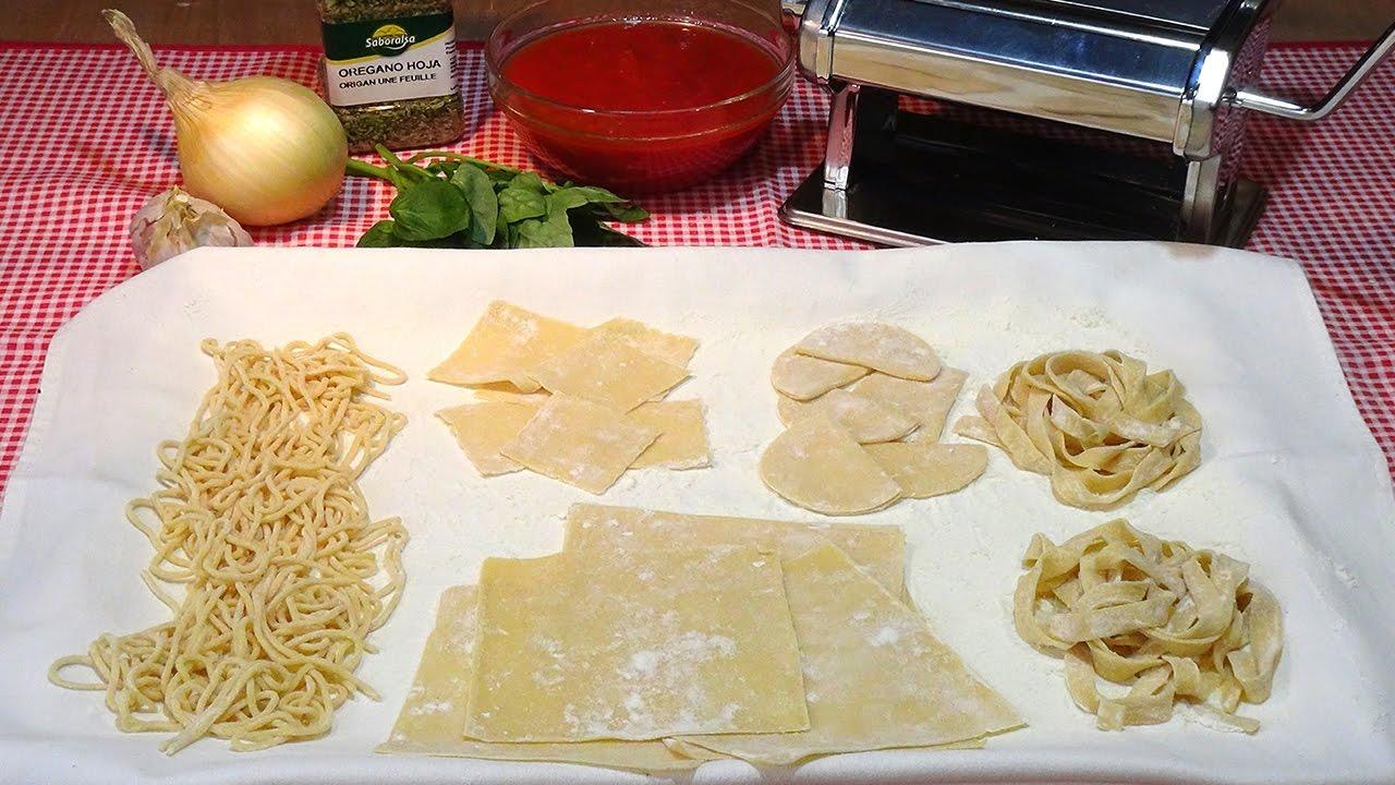 Receta Pasta fresca casera al huevo paso a paso - Recetas de cocina, tutorial