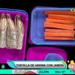 Receta de hoy: Tortilla de harina con jamón