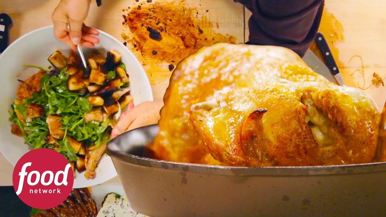 Receta de pollo asado y ensalada de rúcula   Cocinando con Ina Garten   Food Network Latinoamérica