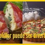 Recetas creativas con coliflor | Pizza de coliflor | VIX YUM