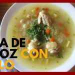 SOPA DE ARROZ CON POLLO (Alitas) | Chicken and rice Soup | Deliciosa!