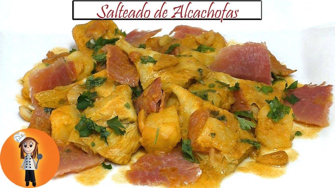 Salteado de Alcachofas con Jamón | Receta de Cocina en Familia