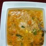 Sopa De Fideo Fácil Con Pollo  y  Verduras Recetas De Comida Mexicana