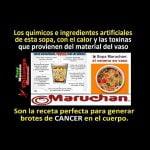 """Sopas """"maruchan"""": ADITIVOS QUÍMICOS, COLORANTES, SABORIZANTES, SAL Y EL VENENO: GLUTAMATO MONOSÓDICO"""