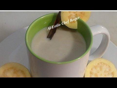como hacer, ATOLE DE GUAYABA, sin que se corte, Receta # 361, atole de guayaba con masa