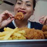 COMER SHOW / MUKBANG (Pollo frito, papas fritas Arro, Arroz con Pollo)