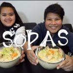 Filipino Food Mukbang - Sopas (Sopa cremosa de pollo con pasta)