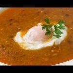 Receta de sopa castellana con huevo escalfado - Karlos Arguiñano