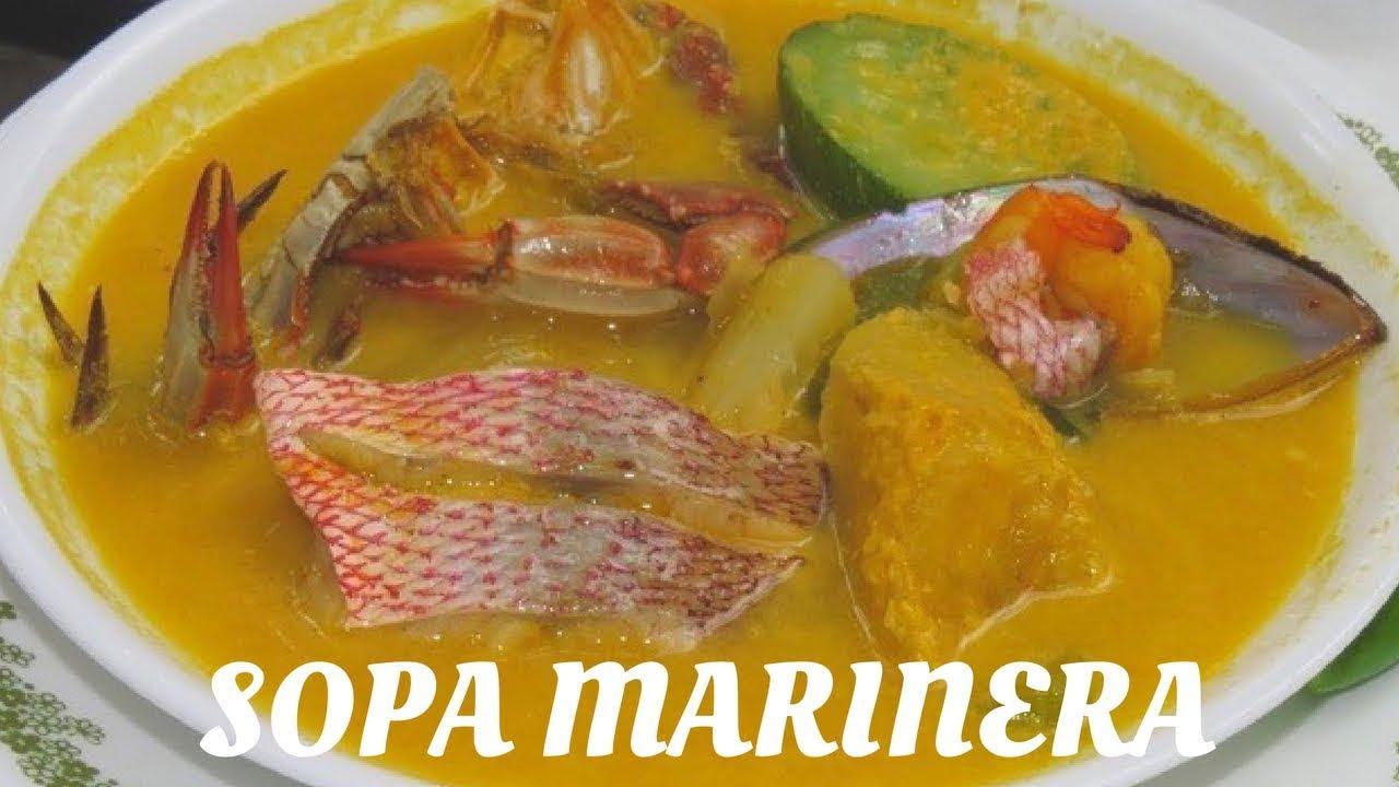 SOPA MARINERA HONDUREÑA  ESTILO COCINA Y PALADAR