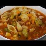 Sopa de minestrone   Andrés Trujillo   La Sartén por el Mango