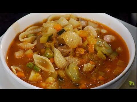 Sopa de minestrone | Andrés Trujillo | La Sartén por el Mango