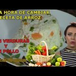 ARROZ CON VERDURAS Y POLLO 👩🍳 recetas de cocina faciles rapidas y economicas de hacer comida rica