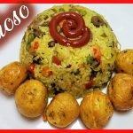 Arroz de CORAZONES de POLLO - arroz con corazones de pollo