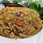 Arroz frito con pollo cerdo y camarones estilo Thai - como hacer un arroz tailandes facil y rapido