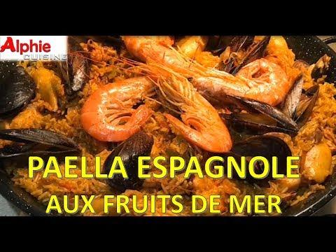 PAELLA ESPAGNOLE AUX FRUTAS DE MER !!! - Paella española con mariscos - Paella con mariscos