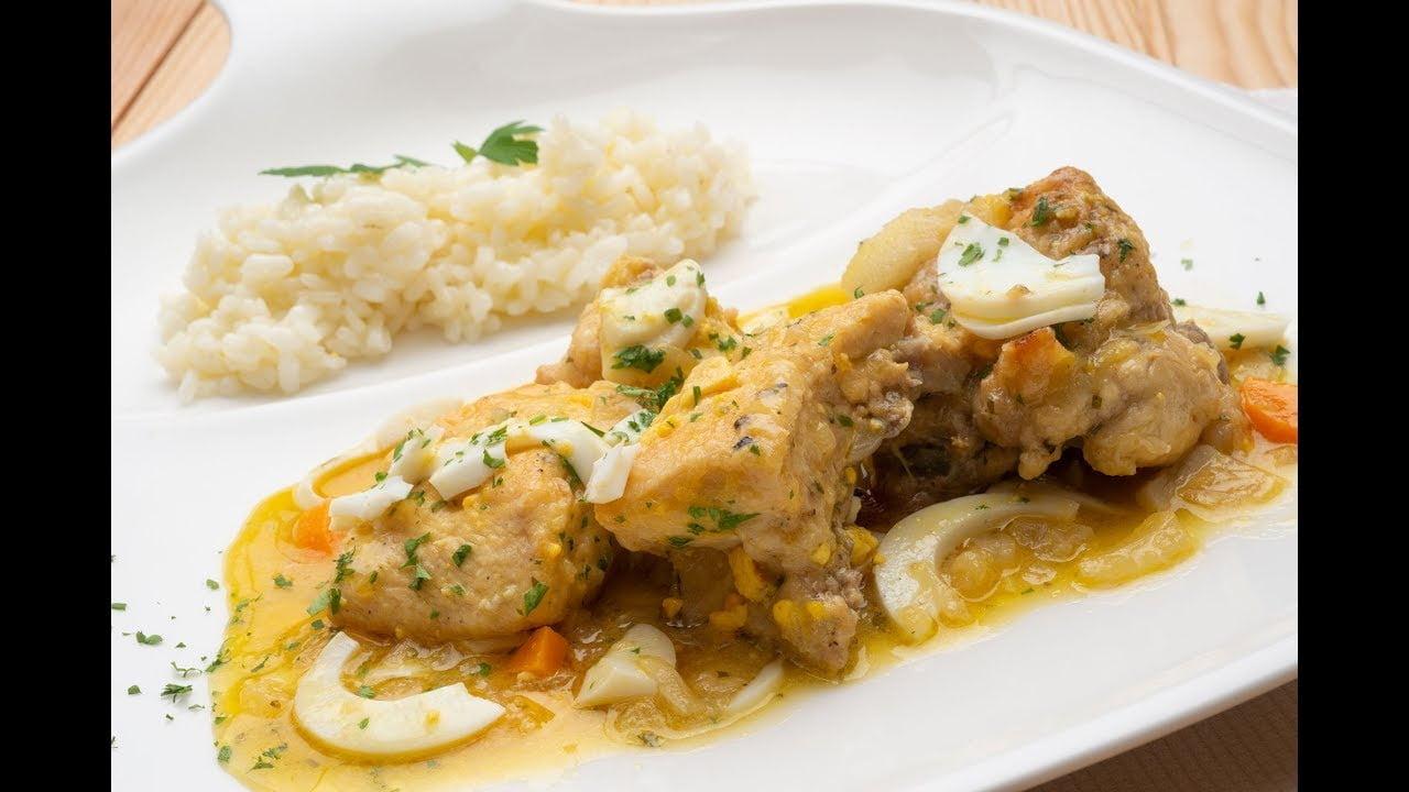 Pollo guisado con arroz blanco - Karlos Arguiñano en tu cocina