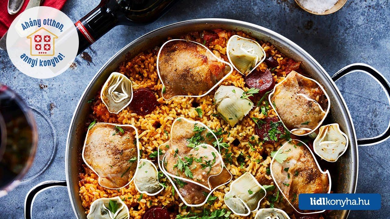 Receta de Mautner Zsófi - Paella de pollo con chorizo y alcachofa
