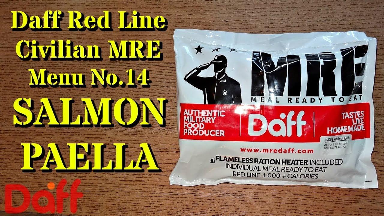 Revisión de MRE: Daff Red Line Civil - Ración de 12 horas - Salmon Paella