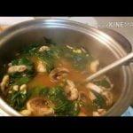 Sopa de Espinacas, Garbanzo y Champiñón/ Sopa Vegetariana 😋 Muy Nutritiva🍲
