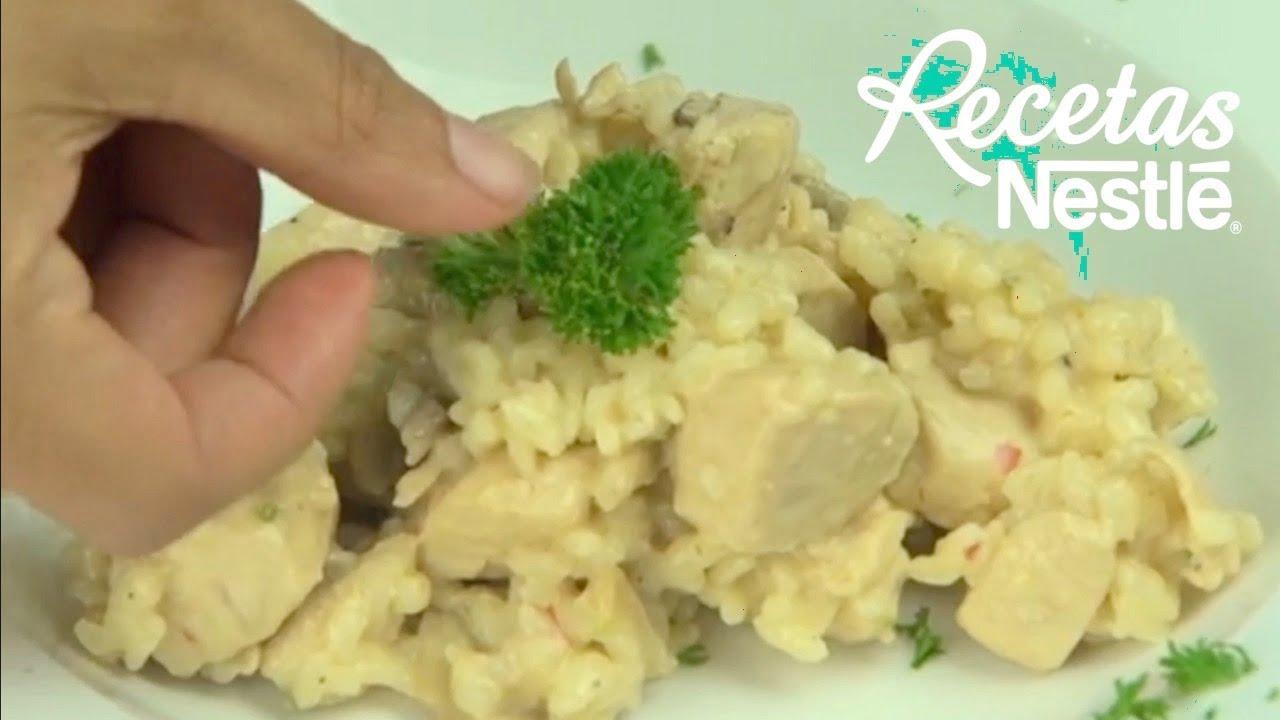 Arroz Cremoso con Pollo y Hongos  Recetas Nestlé CAM