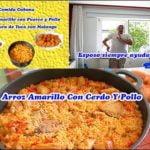 Arroz con Cerdo  y pollo a lo Cubano+frituras de Yuca y Malanga+Y las limpío