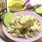 Arroz con pollo y cilantro - platillos mexicanos