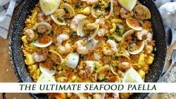 Cómo hacer un amante de los mariscos Paella española