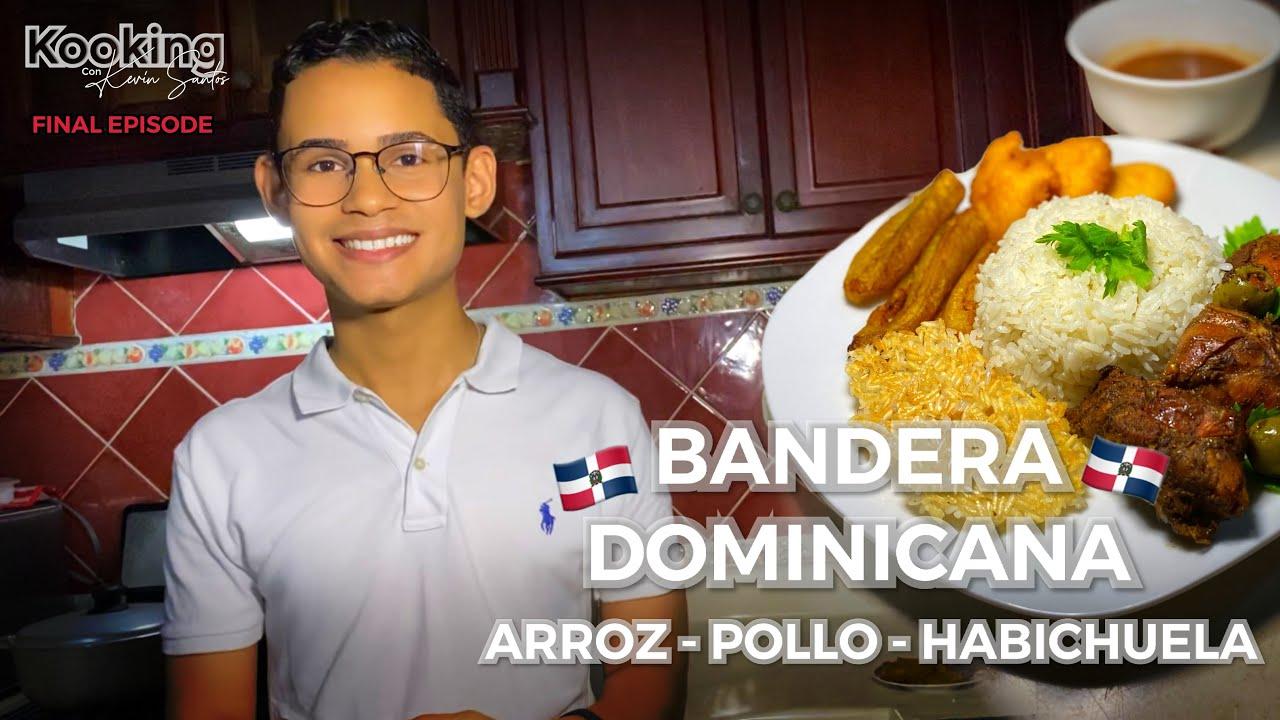 COMO HACER LA BANDERA DOMINICANA (Arroz, Pollo y Habichuela) / Kooking con Kevin Santos Ep. 5