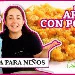 Cocina para niños / receta de como hacer arroz con pollo / cocinar con niños / Arroz con pollo 🇵🇷