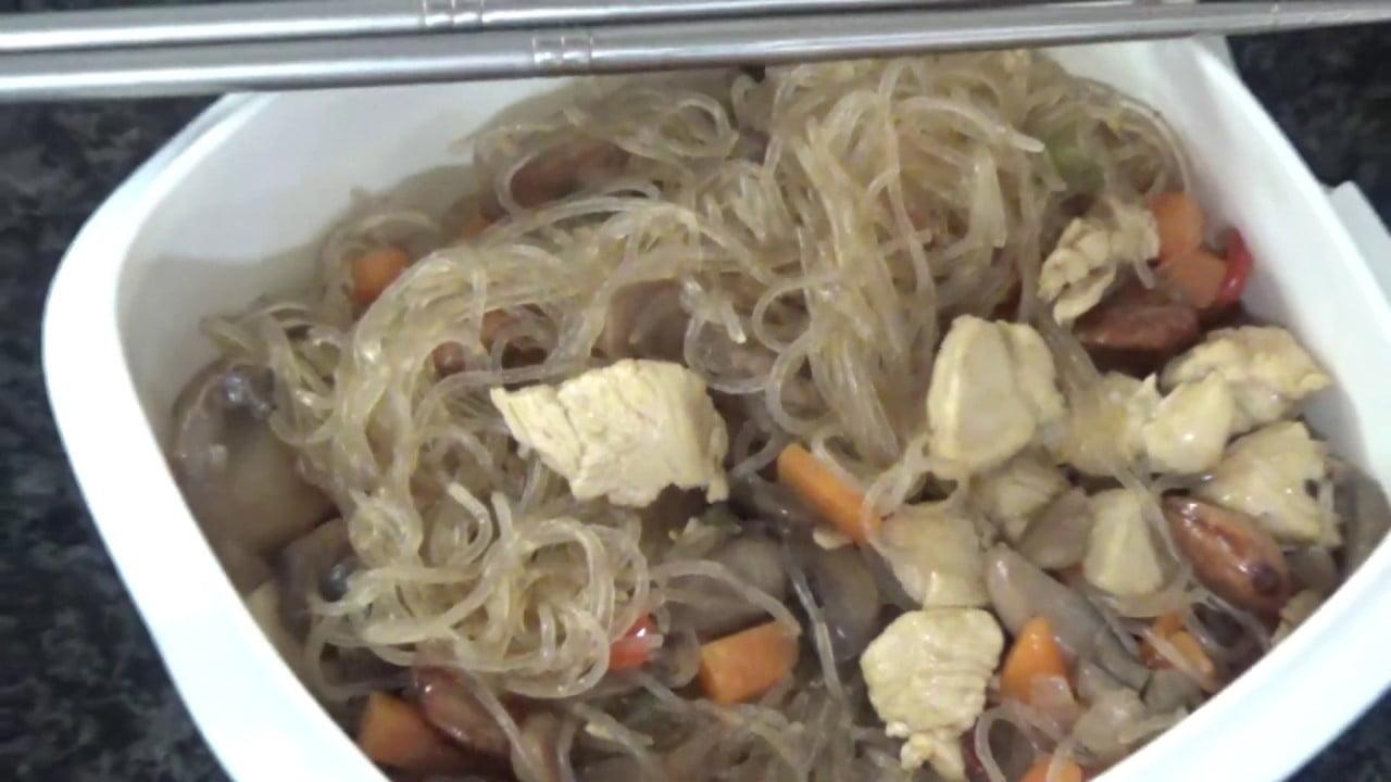 Fideos de arroz con pollo#preparamosfiambrera