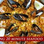 La paella de mariscos más increíble de 20 minutos