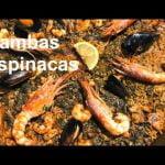 PAELLA de MARISCO Gambas Espinacas Casa Arturos Paellas y Arroces