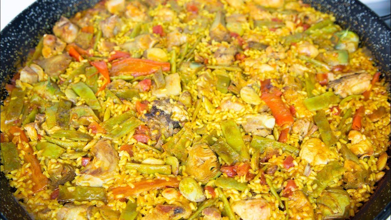 Paella de Castellón. Receta. Paella recipe.