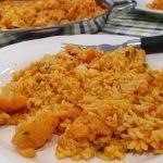 Paella de bacalao y coliflor