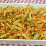 Pasta con verduras receta fácil, económica y rápida