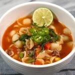 Sopa de Conchitas con Carne Molida - Pasta - Mi Cocina Rápida